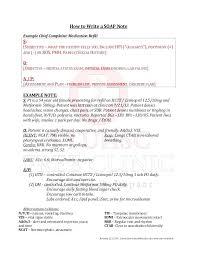 Soap Note For Example Assessment Pt Progress Notes – Trufflr