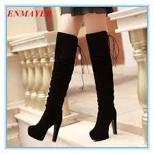 <b>ENMAYER</b> big <b>size34</b>-<b>43</b> high Over-the-Knee boots for women ...