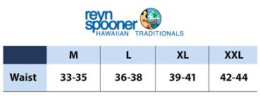 Reyn Spooner Size Chart Reyn Spooner Beach Shorts