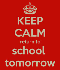 Welcome back after what we hope was a wonderful Christmas break! All  students are expected to return to school tomorrow on Monday, January 5th!
