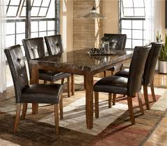 Chair Black Glass V Shape Dining Table With 6 Chairs Grecian  Within  Grecian Marble Dining