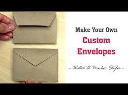 Size Of Envelopes How To Make Envelopes Any Size Easy Custom Envelopes For Cards In 2 Styles Wallet Banker