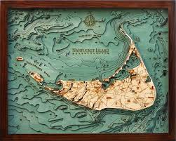 Nautical Wood Charts Custom Wood Charts Of Nantucket Island From Carved Lake Art