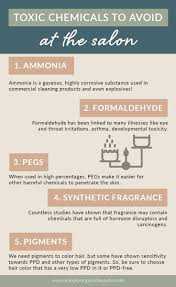 Hairdresser Tip Chart 5 Toxic Chemicals To Avoid In The Salon Simply Organic Beauty