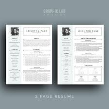 Two Page Resume Cv Design One Page Resume Two Page Resume Creative Resume