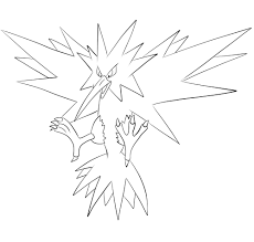 Moltres Coloring Page Unique Zapdos Pokemon Coloring Pages Table