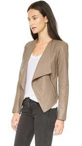 lyst bb dakota harper leather jacket in natural
