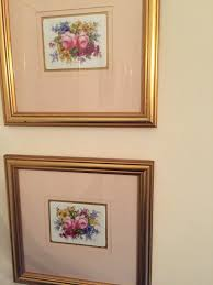 royal crown derby porcelain plaques 2 painted and signed by f a marple c
