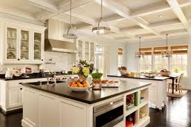 These lovely counters take center stage in this small kitchen. The wood  floors and tan