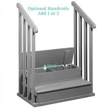 hot tub steps spa with storage from spas stuff inside bathtub handrail plan 59