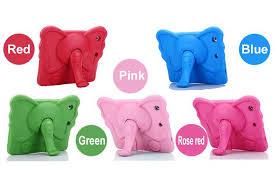 For <b>ipad</b> mini <b>case</b> kids Cute elephant Cartoon 3D Protective Non ...