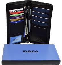 travel leather zip around multiple family passport holder doent organizer cas