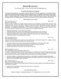 ... Restaurant General Manager Resume 16 Fast Food Manager Resume ...
