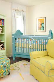yellow and blue nursery