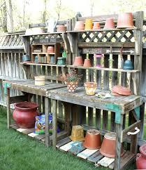 stupendous image potting bench plans