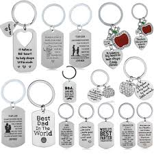 details about key chain keyring family gifts mother father daughter son keychain pendant charm
