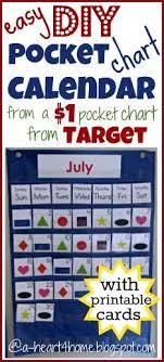 Sew Your Own Pocket Chart Calendar From A 1 Target Pocket