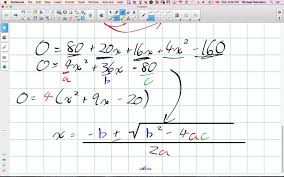 solving quadratic word problems with area grade 11 university lesson 1 3 10 5 15 you