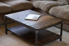 img coffee table hardwood wood and steel brew city woodworks side with storage light oak small sets square narrow end tables timber designs corner high