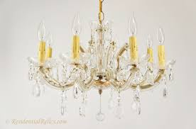 vintage 8 candle italian maria theresa style crystal chandelier within remodel 17