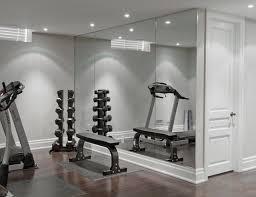 mirrors contemporary home gym