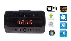 wifi alarm clock full hd 10 ir led motion detection ac