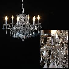 branch shallow chandelier with chromed crystals hover to zoom