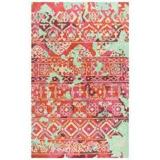 zingaro pink multicolor hand tufted wool 9 ft x 12 ft rectangle area rug