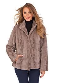 womens faux fur coat warm winter fluffy jacket