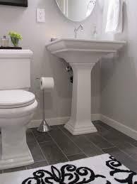 white bathroom floor: white bath dark floor modern bathroom