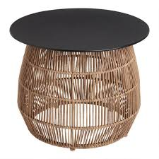 stavros round wicker metal outdoor