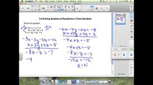 lesson 3 5 solving systems of equations in three variables