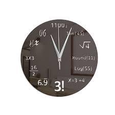 clock sticker diy math equation acrylic mirror wall stickers wall cl