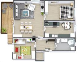 Small House Plans 2 Bedroom 50 3d Floor Plans Lay Out Designs For 2 Bedroom House Or Apartment