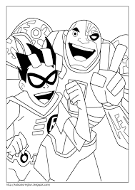 Teen Titans Coloring Page In Pages Best Of - creativemove.me