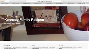 Family Recipes Website – Patrick's Software Blog