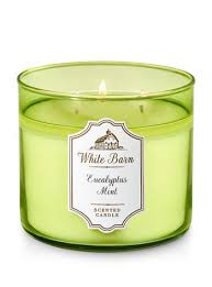 bath and body works near times square eucalyptus mint 3 wick candle white barn bath body works
