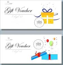 Gift Voucher Template Free Download Adorable Free Gift Card Design Template