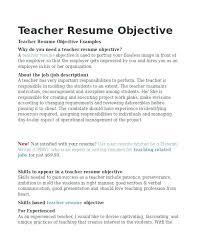 Example Resumes For Teachers Teaching Sample Resume Dovoz
