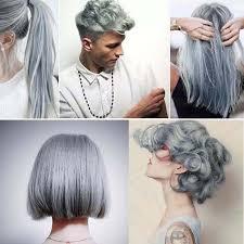 details about uni 100ml light gray silver hair cream permanent easy diy dye punk hairsty j9