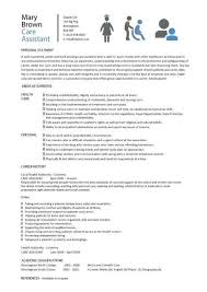Sample Resume For Aged Care Worker