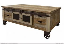 pine wood antique storage coffee table