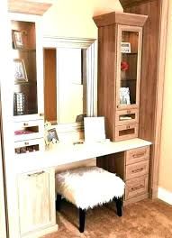 walk in closet vanity ideas built makeup inside fascinating with linen pin awesome things to do an unused