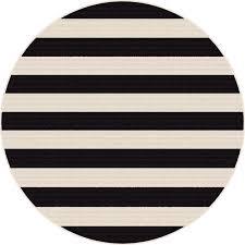 8 round black stripe indoor outdoor rug garden city rc willey furniture
