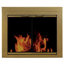 ashlynn large glass fireplace doors