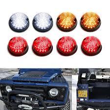 Land Rover Defender Red Warning Light 8pc Smoked Led Signal Driving Brake Light Assy Kit For Land Rover Defender 2 3
