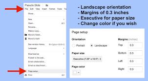 executive paper size google apps script