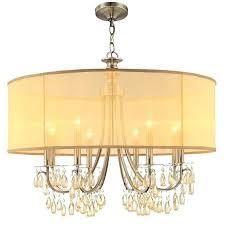 gold drum chandelier lighting group bronze 8 light wide drum chandelier with smooth teardrop almond crystals gold drum chandelier