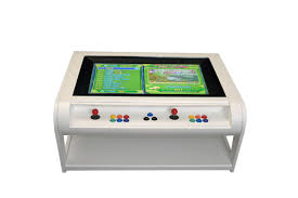 modern coffee table style arcade machine with 960 plus front view