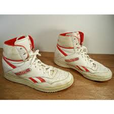 reebok high tops mens. vintage reebok dunk white red leather high top basketball shoes sneakers men\u0027s made in korea size tops mens